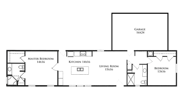 Floor Plan 73ft